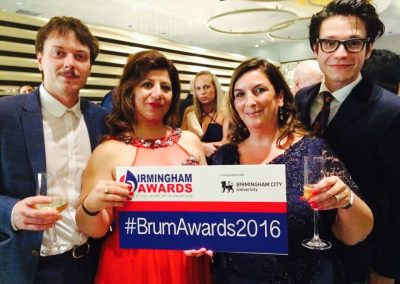 Birmingham Awards after dinner drinks